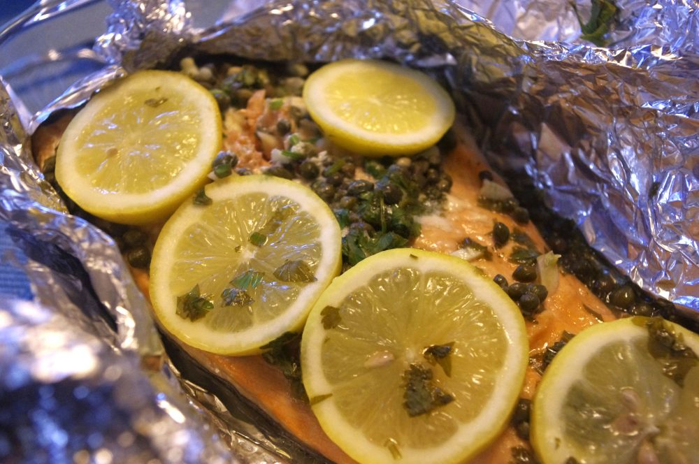 Barb's Beach House Foil Baked Salmon